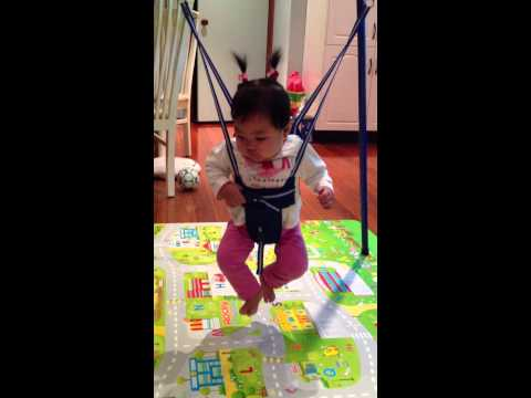 cute baby jumping funny