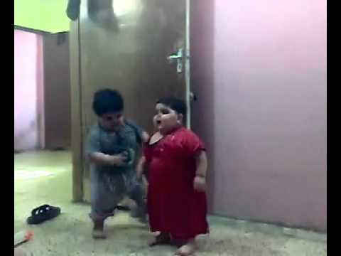 Funny Big Baby Arab Fighting !!