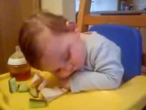 funny video new 2013 clips 32.Funny baby eating and sleeping.