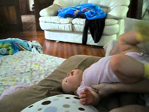 So crazy….little baby infant doing back flips. Insane but soo funny!!