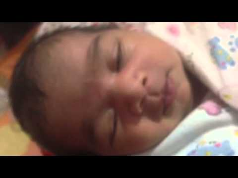Infant, Baby Smiling in dreams, funny baby smiling while sleeping, sleep smiling child