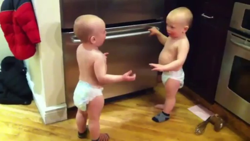 Twin Baby Boys Have A Conversation – Funny Videos at Fully :)(: Silly