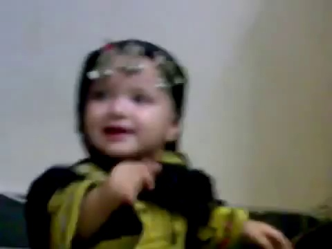 Cute baby dancing to pashto music Pakistani Funny Clips 2013